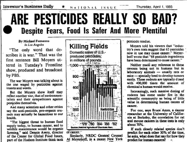 Pesticides so bad?